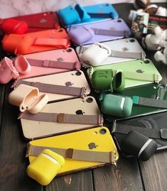 Which is Your Favorite color ? All colors of watch bands and AirPods cases and Iphone cases. Apple Watch Iphone, Iphone Se, Coque Iphone, Free Iphone, Apple Watch Accessories, Iphone Accessories, Cute Phone Cases, Iphone Phone Cases, Fone Apple