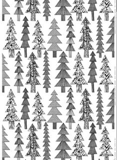 Christmas | Xmas | Jul | Noël. Trees. Kuusikossa Marimekko Winter 2013
