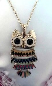 OWL NECKLACE owl necklace <3