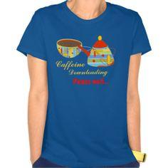 Caffeine Downloading  Hanes Nano T-Shirt