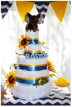 Oh I Love The Sunflowers! Baby Shower Theme Colors BLUE BLACK And YELLOW?