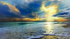 Blue Seascape Golden Sun Rays Sunset http://www.beautifulvacationspots.com/ #prints #photography #art #artwork #beach #ocean #seaside #sunset #vacation #decor