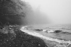 fog grayscale landscapes sea shorelines (to get full size image visit the site)