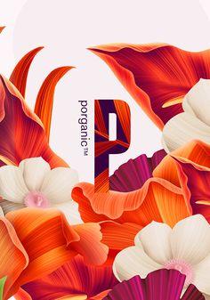Porganic - organic lemonade branding and packaging design Graphic Design Tips, Graphic Design Services, Graphic Design Posters, Ad Design, Layout Design, Flower Packaging, Bottle Packaging, Packaging Design, Branding Design