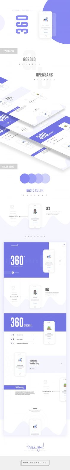 Themeunix: 360 Landing Page on Behance - created via https://pinthemall.net