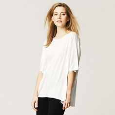 Wide Short Sleeve T-Shirt | The White Company