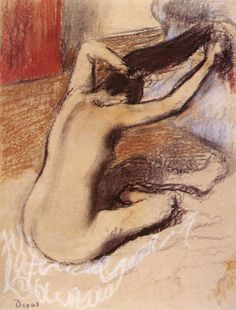 The Athenaeum - Woman Combing Her Hair (Edgar Degas) c.1889