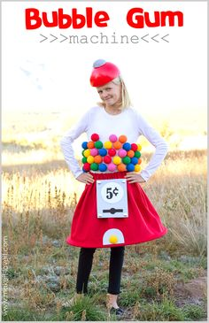 DIY Gumball Machine Costume...a very Low-Sew project! | via Make It and Love It