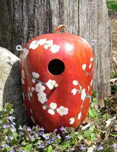 My first gourd birdhouse!