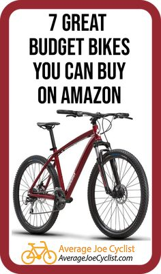 Reviews, comparative chart, and videos to tell you all about 7 great budget bikes you can buy on Amazon, including Cruisers, Mountain bikes, Hybrid bikes, Road Bikes, and Comfort Bikes. Take advantage of Amazon's excellent delivery and return policies! Some reputable brand name bikes are available on Amazon, so there are some great options available. Post includes Pro Tips on how to buy bikes from Amazon. #AverageJoeCyclist #Amazon #BuyingBikes #cyclists #cycling Cycling Tips, Cycling Workout, Hybrid Bikes, Buy Bicycle, Average Joe, Bike Poster, Bike Storage, Bike Reviews, Bicycle Design