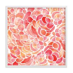 """""""Abstract Peony Watercolor"""" - Art Print by Catherine Sullivan in beautiful frame options and a variety of sizes."""