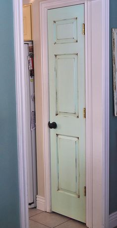 painted pantry door.. can I pull this off in red to go with my dining room accent color??