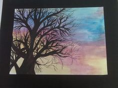 sunset tree I did back in high school