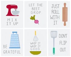 Add the perfect accent to any kitchen with this cute Just Roll with Itl printable.  Print from the comfort of your home, or send it to any