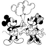 mickey mouse coloring pages minnie