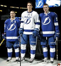 Marty St. Louis, Vincent Lecavalier and Steven Stamkos...I am having babies with one or all of them.
