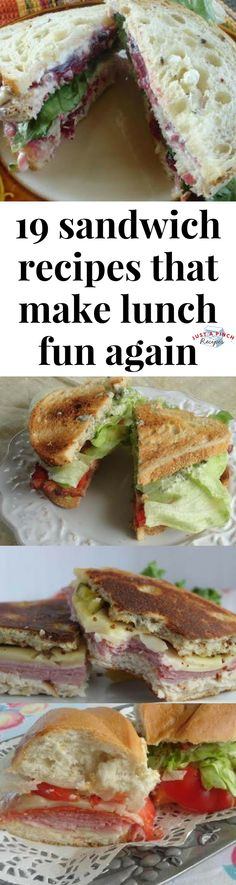 Go get your lunch on with these delightful and delicious sandwich recipes! #sandwich #lunch