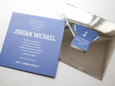 Bar Mitzvah Invitation with Custom Mirror Envelope Bar Mitzvah Invitations, Custom Invitations, Custom Mirrors, Blue Party, Graphic Design Services, Michael J, Service Design, Special Events, Envelope