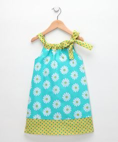 Rainbow Hues: Girls' Dresses —   < previous item	53 of 59	           Teal Daisy Hailey Dress -