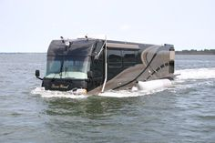 NO it's not flooded.... World's first luxury Amphibious Motor Coach/Yacht…