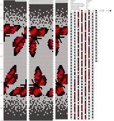 Butterfly Wayuu Mochila pattern