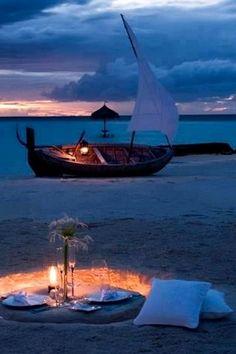 Romantic Beach Picnic Night