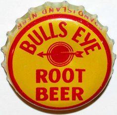 Vintage Soda Pop Bottle Cap Bulls Eye Root Beer Cork Lined Squirt Nebraska EXC   eBay