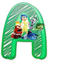 Abecedario con Letras de de Del Revés. Free Inside Out Alphabet. Abc For Kids, Teaching Methods, Cute Funny Animals, Preschool Activities, Tricks, Pixar, Party Time, Outdoor Decor, Marti
