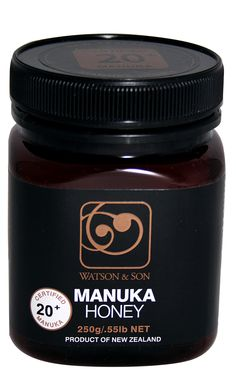 Watson and Son black label manuka honey Manuka Honey, Label, Container, Packaging, Exercise, Health, Black, Food, Products