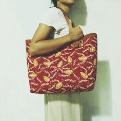 Anjani Red Tasikmalaya Batik Tote     #djokdjabatik