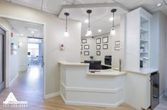 Simple and Bright Reception Area. Dental Office Design by Arminco Inc.