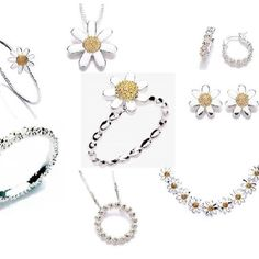 Daisy Jewellery - selection of stacking rings, necklaces, earrings and bracelets.