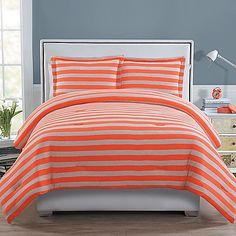 Ella 2-Piece Twin Comforter Set in Orange