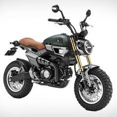 The all new Honda Grom 50 Scrambler Concept One and Concept Two, revealed at the Tokyo Motorshow. Retro looking, bikes for pure fun! Honda Msx, Motos Honda, Honda Ruckus, Honda Motorcycles, Honda Scrambler, Vintage Motorcycles, Honda Grom Mods, Honda Grom Custom, Standard Motorcycles