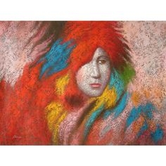 NOVICA Original Painting Andes Fine Art (1,215 CAD) ❤ liked on Polyvore featuring home, home decor, wall art, expressionist paintings, paintings, spanish paintings, face painting, spanish home decor, novica and woman painting