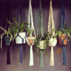 Macramé hangers in neutral colours by Sunshine Dreaming