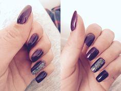 #nails #aubergine perle #caviar #semipermanent