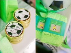 Clarkie's Soccer Themed Party – Giveaways Party Giveaways, Football Themes, Soccer Party, Party Themes, Birthday Ideas, Ali, Party Gifts, Ant