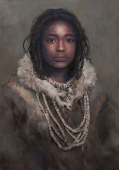 Upper Paleolithic girl by Tom Björklund