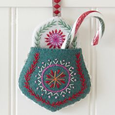 Embroidered Felt Pockets