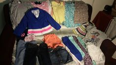 Girls Size 4t  Mixed LOT of 21 tops and bottoms jacket swim (B026) #Everyday