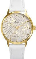 Go girl only 698694 – Ladies Watch – Analogue Quartz – Silver Dial – White Leather Bracelet