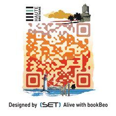 QR Code designé par SET QR pour le Comité Départemental du Tourisme de Haute Bretagne Qr Codes, Coding, Design, Brittany, Tourism, Design Comics, Programming