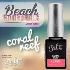 Enjoying some fun in the sun with Coral Reef!  Beach Boardwalk hits shelves in just 2 days! Are you ready to get your set?  #gel2 #geltwo #BeachBoardwalk #SummerNails #NeonNails #nails #nailsoftheday #notd #nailsofinstagram #pronails #professional #manicure #pedicure #Coralnails #CoralColor #pink #orange