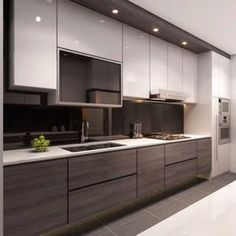 Add some techy feel to your kitchen with this design that surely incites a healthy dose of desire in the hearts of all who are opportune to get to this part of your home