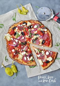Low Carb Greek Pizza