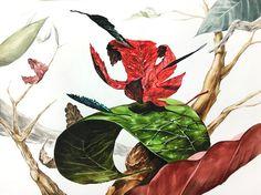미대입시사-건국대 정시 Ap Art, Compost, Digital Illustration, Surrealism, Markers, Design Art, Plant Leaves, Sketches, Watercolor