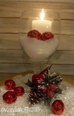 DIY Christmas Decor: How to make a hurricane candle holder for $2.00
