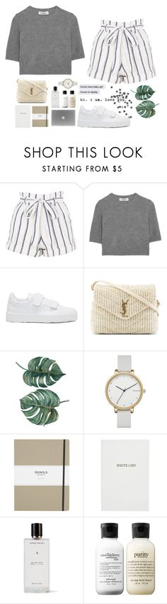 """""""Too much."""" by joycereina ❤ liked on Polyvore featuring Topshop, Valentino, Jil Sander, Yves Saint Laurent, Skagen, Shinola, Sloane Stationery, Agonist and philosophy"""