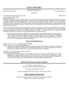 Logistics Resume Sample Resume Examples Logistics  Pinterest  Writer And Resume Examples